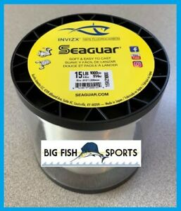 SEAGUAR INVIZX 100% Fluorocarbon Line 15lb/1000yd 15 VZ 1000 FREE USA SHIP!