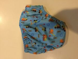 Charlie banana construction print swim diaper