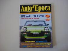 AUTO D'EPOCA 11/2002 MOTO MV AGUSTA 750 S SPORT/FIAT X1/9 / ALFIERI MASERATI