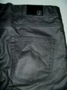 #9009 VON ZIPPER Waxed Denim Shorts Size 32