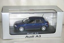 Minichamps 1:43 Audi A3 I Dunkelblau Metallic 5-türig Typ 8L in OVP Top Zustand