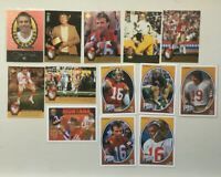 13 DIFFERENT Joe Montana 1995 Trilogy & 1991 Football Heroes INSERTS. Nice Ones!