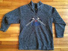 Rare Vintage Active Elements Ski Usa Pullover Fleece Acrylic Poly Blend Medium