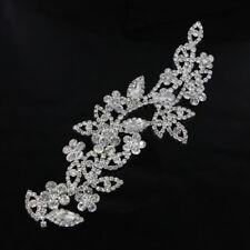 1 Pc Wedding Applique Rhinestone Bridal Dress Diamante Applique Sewing Trim DIY