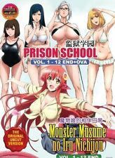 DVD Uncut Prison School And Monster Musume Free Shipping English Sub+Free anime