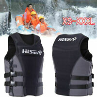 Adults Neoprene Life Jacket Vest for Water Rescue Surfing Boating Swimming US