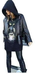 givenchy Women rottweiler Sleeveless Oversized Hoodie Size XS/S