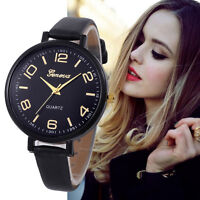 Women Geneva Stainless Steel Watch Leather Analog Quartz Girl Dial Wrist Watches