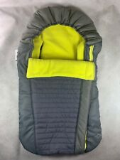 Eddie Bauer Baby Car Seat Cover Fleece Gray Yellow Side Zip Warm For Winter