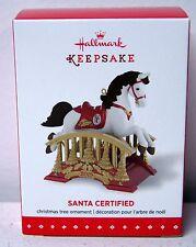 Hallmark 2015 Keepsake Santa Certified Rocking Horse Ornament