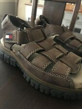 Tommy Hilfiger Boys Leather Sandals Youth Size 1