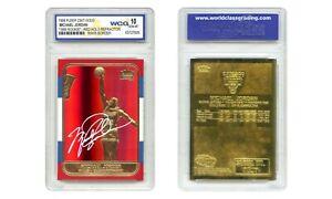MICHAEL JORDAN 1998 FLEER ROOKIE 23K Gold Card RED PRIZM REFRACTOR - GEM MINT 10
