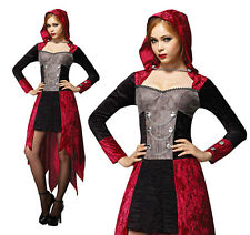 Onorevoli VAMPIRO DEMONE da nubile Costume Halloween Diavolo Costume Vestito UK 10-14
