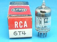 RCA 6T4 VACUUM TUBE SINGLE 1 PCS ABSOLUTELY NOS NIB