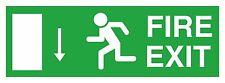 1x Fire Exit Down Left Sticker