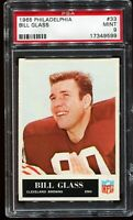 1965 Philadelphia Football #33 BILL GLASS Cleveland Browns PSA 9 MINT