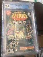 New Teen Titans #7, NM 9.4 CGC, Robin, Cyborg, Starfire, Wonder Girl