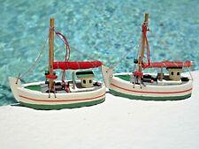 Fishing Sail Boat Trawler Seiner Long Liner Net Wooden Xmas Miniature Ornaments