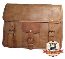 Handtasche Umhängetasche Messenger Bag 100% Leder Handmade von Wild Vintage WV3