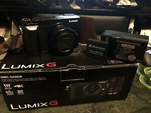 Panasonic LUMIX GX85 16 MP Digital Camera - Black w/ 12-32mm & accessories.