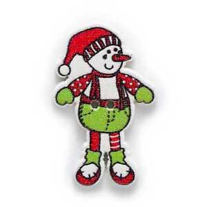 10pcs Christmas Snowman Wood Buttons for Sewing Scrapbook Handwork Decor 35x22mm