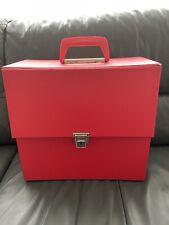 """1970's RED LP  CARRYING CASE  - RECORD Vinyl 12"""" - Original Retro LP Case"""