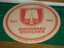 040317 sottobicchiere beer mats birra bierdeckel spatenbrau munchen
