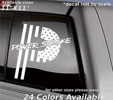 Custom american flag powerstroke P decal sticker ford Diesel truck back window