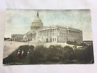 Vintage Postcard U.S. Capitol Washington D.C. Posted 1915