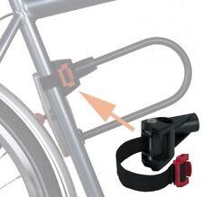 Trelock ZB-502 D Textil Halterung für Fahrrad-Bügelschlösser, Universell