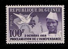 GUINEA - Scott 174 - 1958 Proclamation of Independence - Bird - Dove - MNH