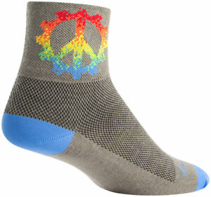 SockGuy Classic Peace Ring Socks - 3 inch, Gray, Large/X-Large