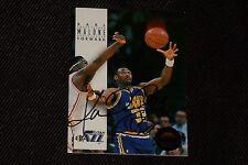 HOF KARL MALONE 1993-94 SKYBOX PREMIUM SIGNED AUTOGRAPHED CARD #178 UTAH JAZZ