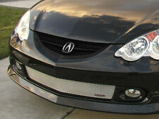 GrillCraft 02-04 Acura RSX with fog Lights Silver MX Bumper Mesh Grille Grill