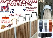LTG PRO 12 Pcs Fence Panels Noise Stoppers Garden Fence Wind Anti Rattling Clips