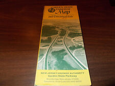 1970 Garden State Parkway Vintage Road Map and Guide