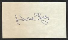 Dallas Shirley {1913-1994} Signed 3x5 Index Card HOF NBA Basketball Referee COA