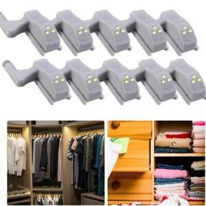 10 x LED Smart Sensor Light Kitchen Cabinet Closet Cupboard Wardrobe Hinge Lamp