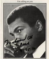 Muhammad Ali signed autographed program pamphlet! RARE! Guaranteed Authentic!