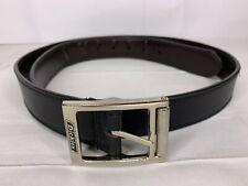 Dickie's Black Genuine Leather Belt Silver Buckle Dress Belt Size 38