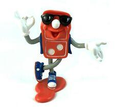 "Donny Domino Vintage 4"" PVC Action Figure 1992 Dominos Pizza Mascot 90s Retro"