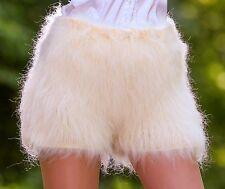 IVORY CREAM Hand Knitted Mohair Pants Fuzzy Underwear Handmade Shorts SUPERTANYA
