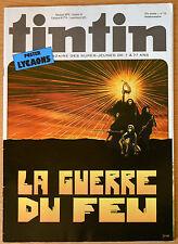 BD Comics Magazine Hebdo Journal Tintin No 12 37e 1982 La Guerre du Feu
