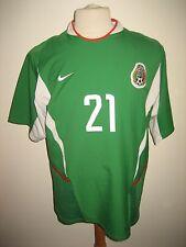 Mexico MATCH WORN football shirt soccer jersey trikot camiseta futbol size L