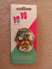 London 2012 Wenlock & Mandeville 1st Birthday Limited Edition Large Pin Badge