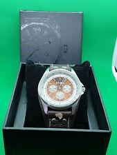 mens next nt-082 fashion chrome imitation chronograph watch in original box.