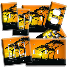African Savanna Acacia Tree Sunset Light Switch Outlet Wall Plate Room Art Decor