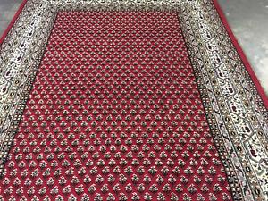 "Orientteppich Indo""Mir"" in ca. 250x350 cm in Farbe Rot - Neuware,handgeknüpft"