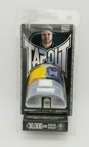 BNIP TapouT Adult Size Boil And Bite Yellow Navy All Sports Mouth Guards 2 PK