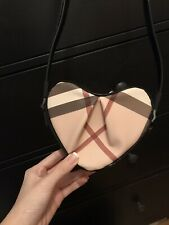 Burberry Check Heart Crossbody Bag Black 100% Authentic New With Tag